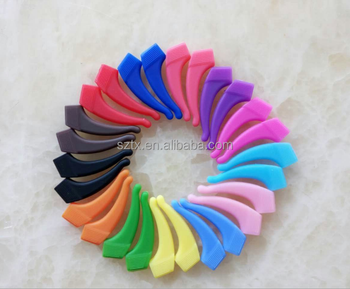 37mm colorful high quality no-slip silicone temple tips for sports&active life