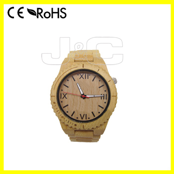 2015 digital fashion watch and eco-friendly bamboo japan movt quartz watch