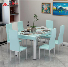 2017 new glass table, hot pot table and chair combination of table and chair