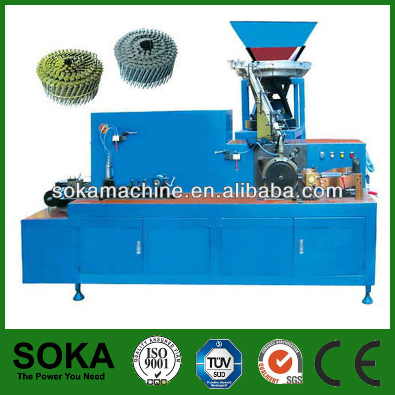 china supplied cheap wire collated coil nails making machine with high quallity