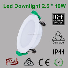 2.5 inch Round Dimmable 10W Cob Led Downlight 80mm Cutout 600lm CE ROHS SAA RCM certificate
