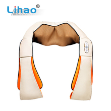 LIHAO Popular Products 2018 Car Kneading Shiatsu Neck Shoulder Massager Electric Shawl