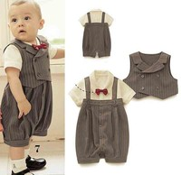 14054 Top Selling 2014 Summer Korean Style Cute Short Sleeve Boys Romper Two-Piece Suit