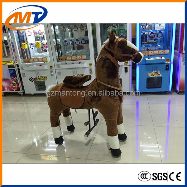 Pony electrical ride on new product kid ride moving horse in mall for hot sale