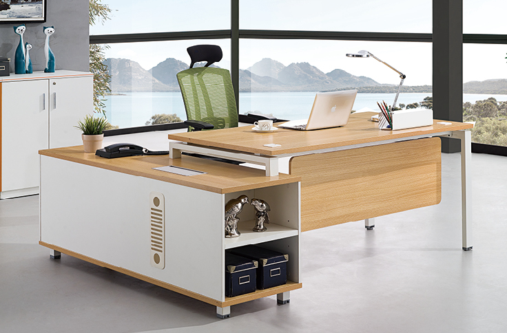 Elegant L shape executive office desk manufacture by China