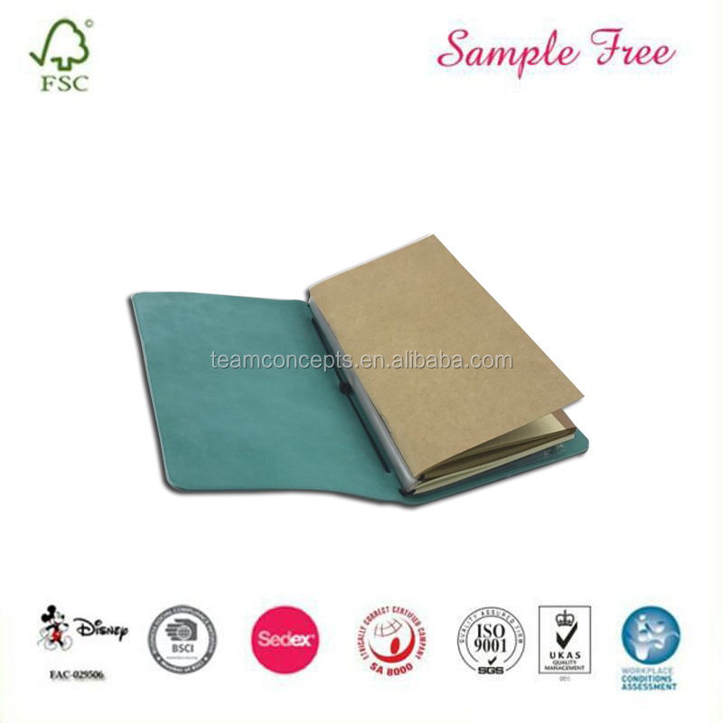 Leather Cover Office Recycle Paper Note Book