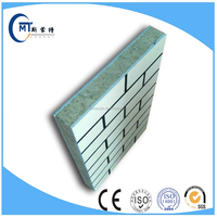 building wall insulation panel decoration material imitation brick EPS expanded polystyrene sandwich panel fiber cement base