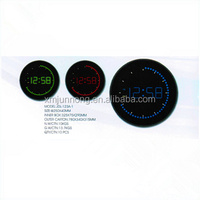 Round shape kitchen led digital clock wall clock