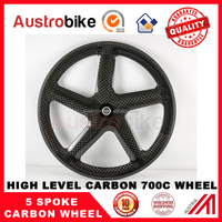 700c*23mm width AUSTROBIKE carbon wheels 700c carbon 5 spoke wheel road /track fixed gear bike wheel