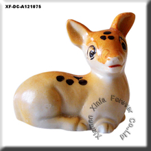 "lovely 5"" ceramic sitting deer figure decoration"