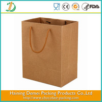 high quality food grade brown paper bag by kraft paper bag manufacturers