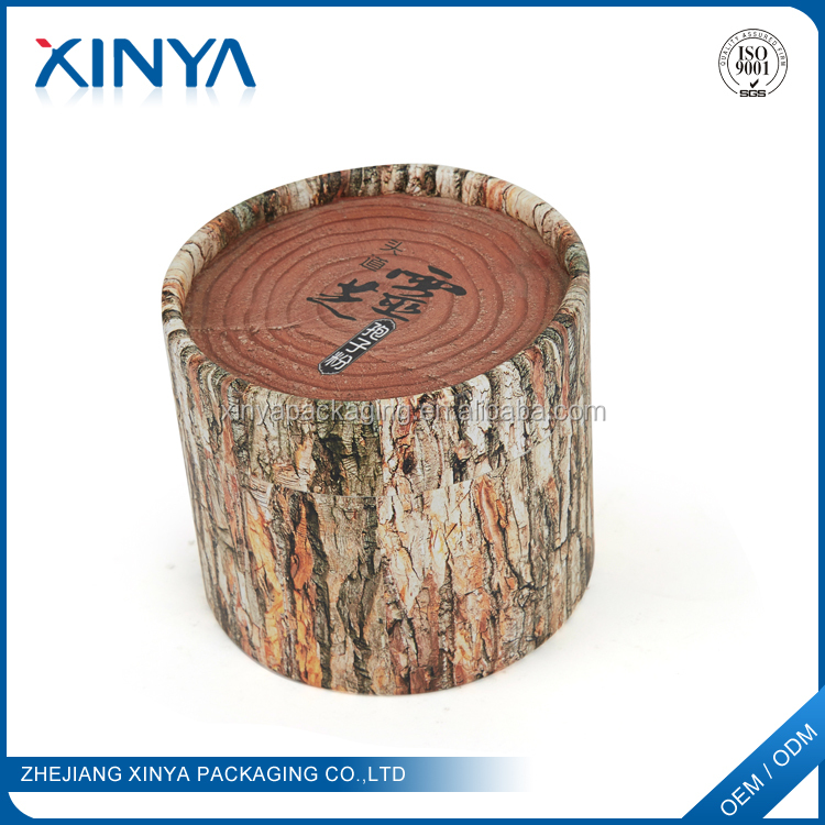 XINYA High Quality Products Custom Logo Printed Food Grade Round Hard Paper Cylinder Box