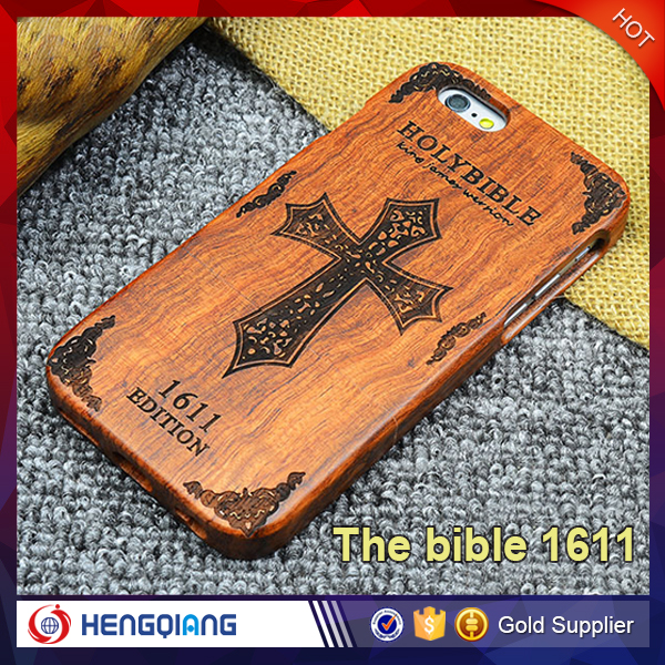 Natural Real Wood Hybrid Hard Back Mobile Phone Cover Case For iphone 4s / 4