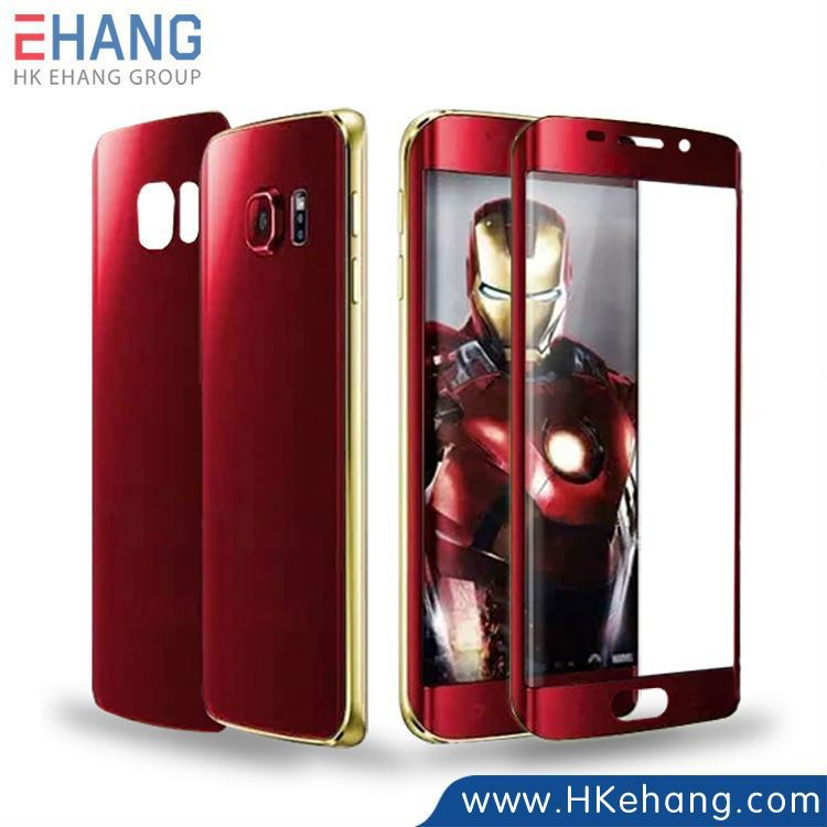 Factory price full coverage screen protector for Samsung galaxy s6 edge with the avengers' theme