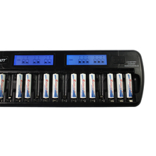 CE UL battery LCD Smart Charger 16 slot NiMH/NiCD AA/AAA