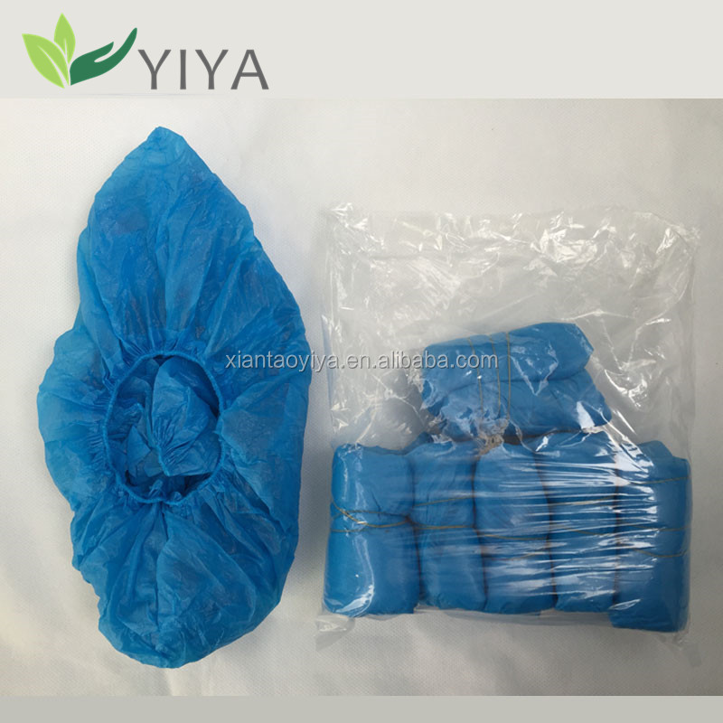 PE / CPE waterproof disposable shoe cover for medical and industry use