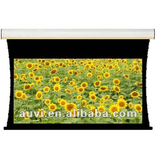 "Electric tensioned screen 120"" 2.35:1, tab-tensioned projection/projector screen"