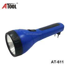 Wholesale In China torch light led flashlight brazil plug torch