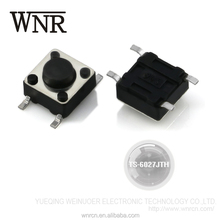 Made in china environmental normally open SMD / SMT 4 pin electrical tact switch TS-6027JTH