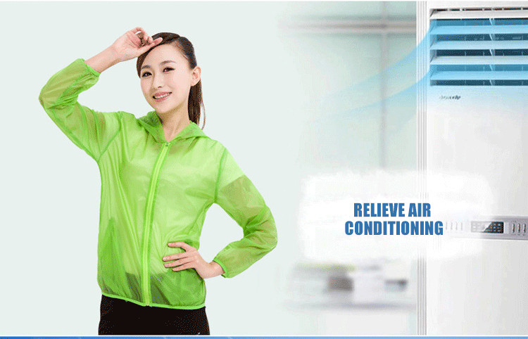 Electric fan cooling sunscreen UV protective outdoor jacket