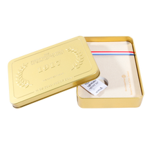 Gold Color print outside and inside metal cigarette packing tin box