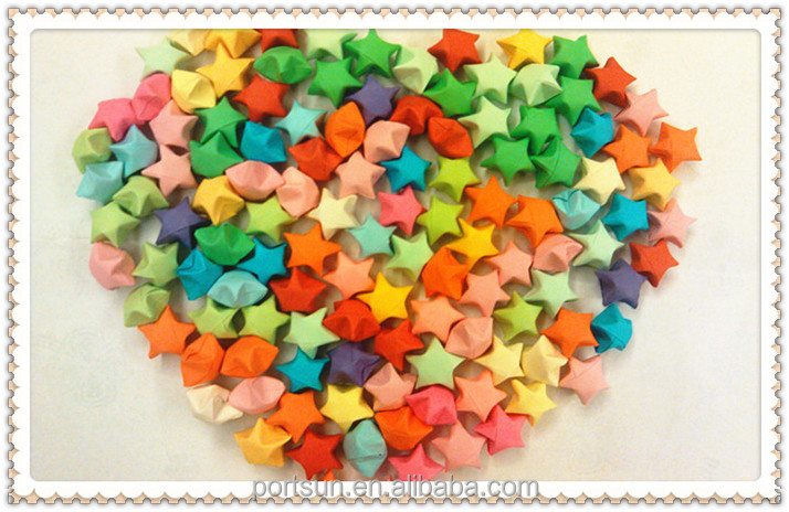 Handmade Colorful Lucky Star Origami Paper