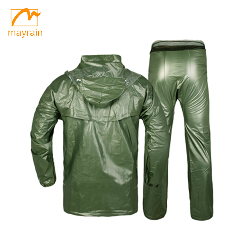 Adult Wholesale Hooded Emergency PVC Rainsuit