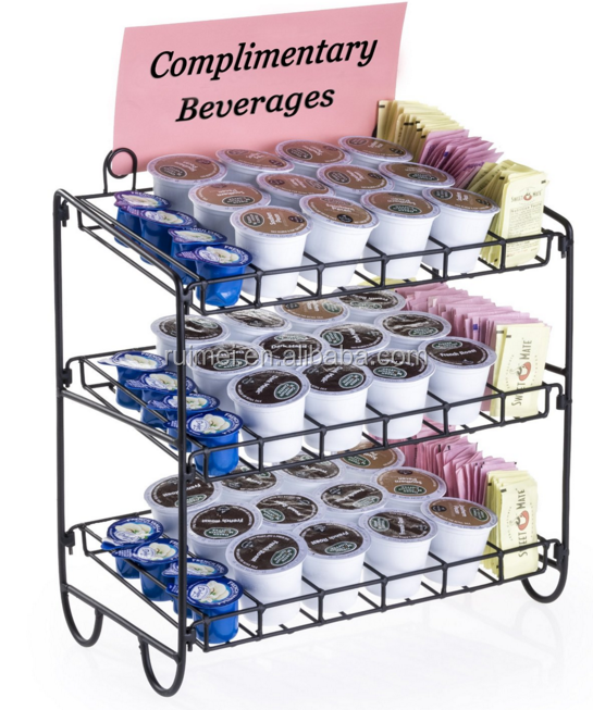 Portable Customized Metal Wire Beverage Display Rack