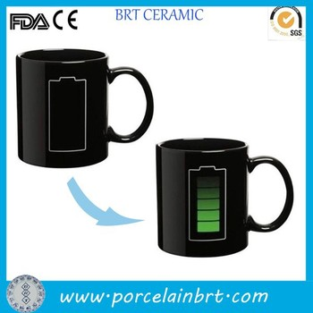 Temperature sensitive custom color changing Magic Mug