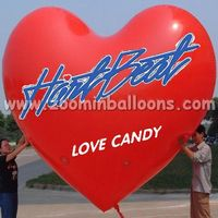 good price love shape cute inflatable helium balloon with big discount N1094