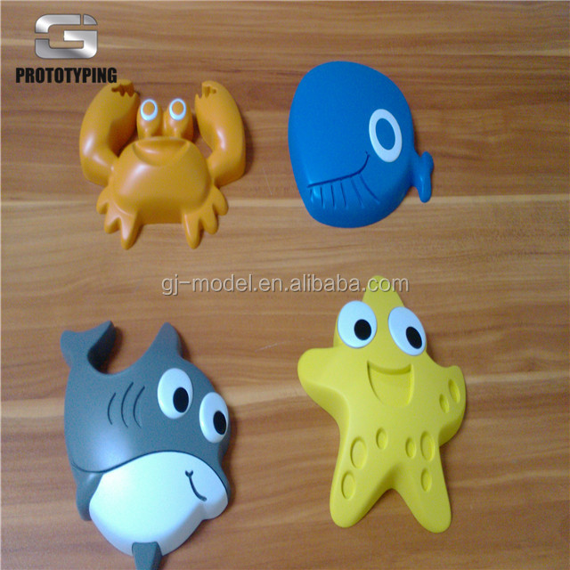 Non-standard customized CNC Milling Machined Prety Colored Plastic Toys Model