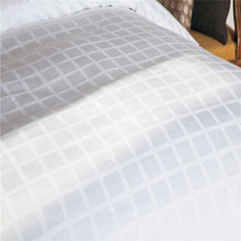 Hotel bleached pure cotton fabric big checks