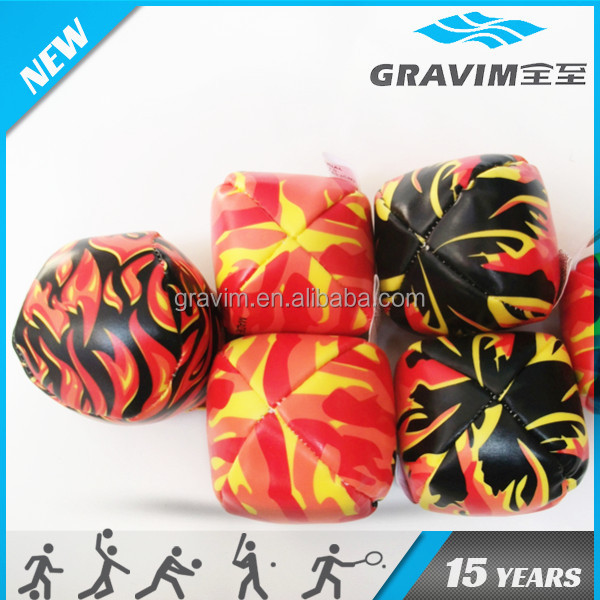PVC hacky sack juggling ball game toys