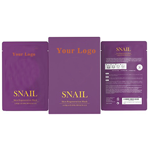 Snail Regeneration Korean Facial Mask (pack of 10) 100% Pure Cotton Cupra Sheet Mask, Anti-Aging, Anti-Wrinkle, Hydration Mask,