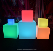illuminated event night waterproof outdoor remote control battery color changing led cube bar chair seat furniture light