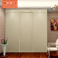 Custom european style modern bedroom plywood laminate sliding wardrobe doors design