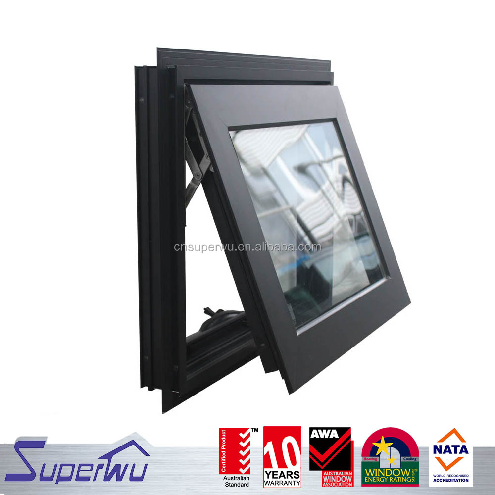 New design aluminum chain winder awning window with fin easy for installation with cheap price