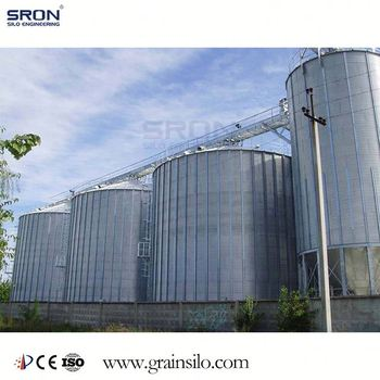 SRON Double-Side Hot Galvanized Commercial Wheat Steel Silo With China Leading Technology