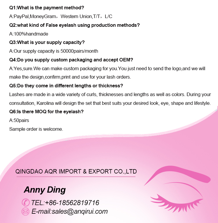 Competitive hand made natural looking soft wispy mink fur lashes manufacturer