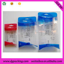 Printed Clear PVC plastic apple pie packaging box