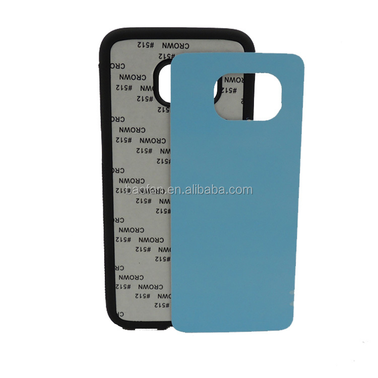Low Price 2D Blank Sublimation Phone case for Samsung Galay S7 Edge TPU+PC Heat Transfer Cell Phone Cover