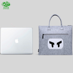 2018 online shop China wholesale easy handle carrying felt laptop tote bag