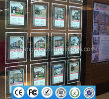 2017 New Real Estate Backlit Poster Frame Led Acrylic Photo Holder Window Display