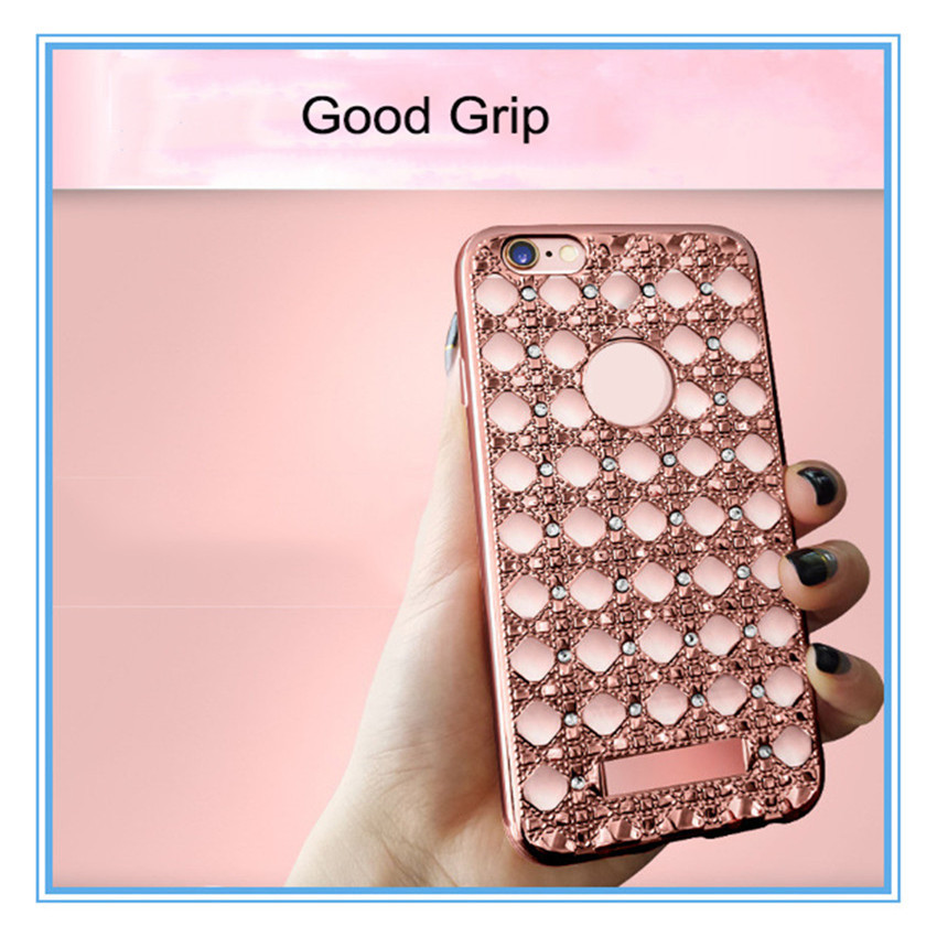 Bling Shine Diamante Shaped Diamond Stones Crystal Hard Phone Case Cover For iphone 7