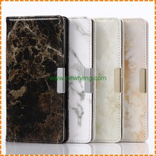 Wholesale Marble line Wallet Flip Protective PU Leather Case for Sony Xperia XZ