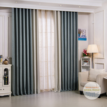 Hot selling polyester imitation linen look vertical jacquard blind curtains and drapes