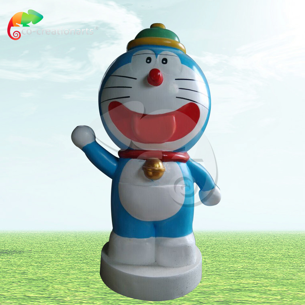 Fiberglass doraemon statue for theme park decoration