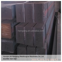 GGG500 continuous cast iron bar/nodular graphite iron/rectangle cast iron raw material /China high quality