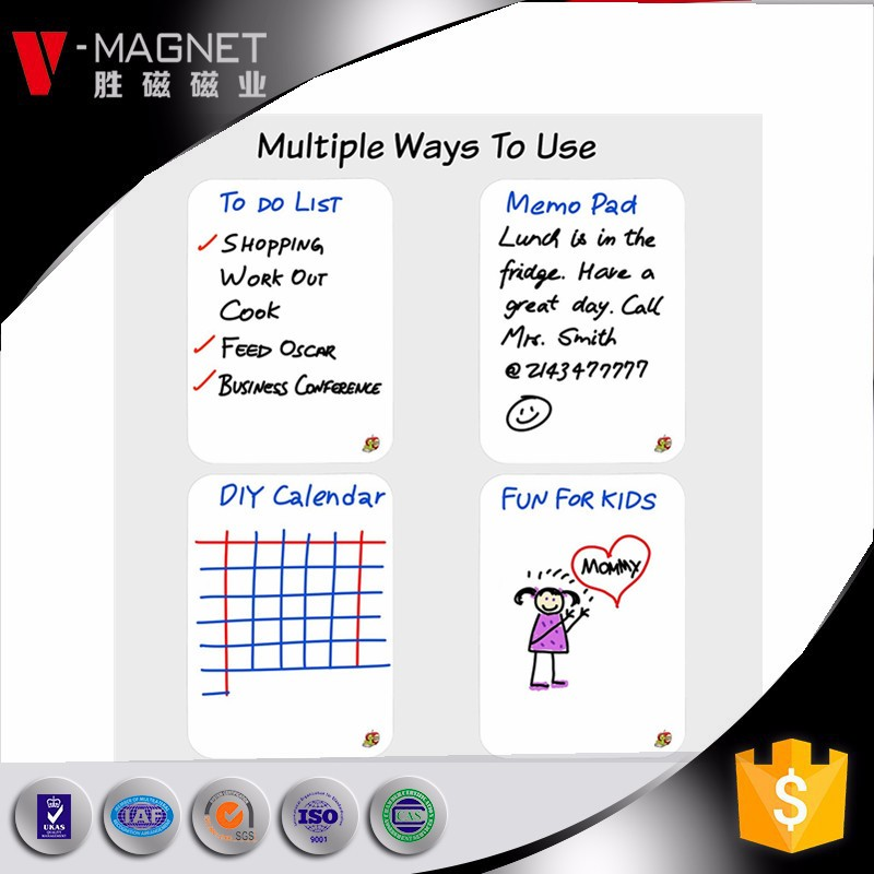 Magnetic Dry Erase Whiteboard Sheet for Refrigerator