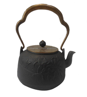 cast iron teapot with copper lid